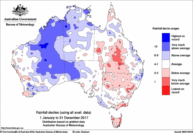 Australia Map 2017.Australia S Science Channel 2017 Was The Third Hottest Year On