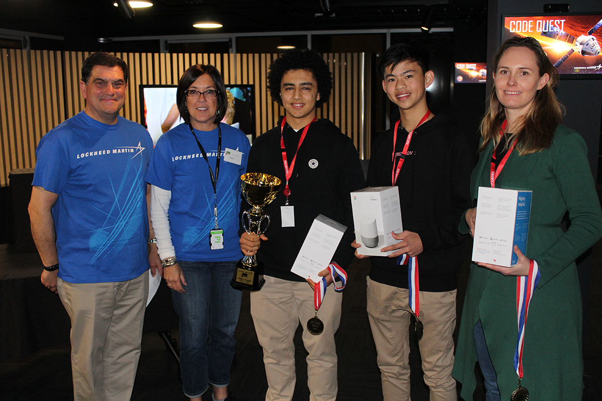 Winning Team of Code Quest from Haileybury School, Melbourne and Lockheed Martin