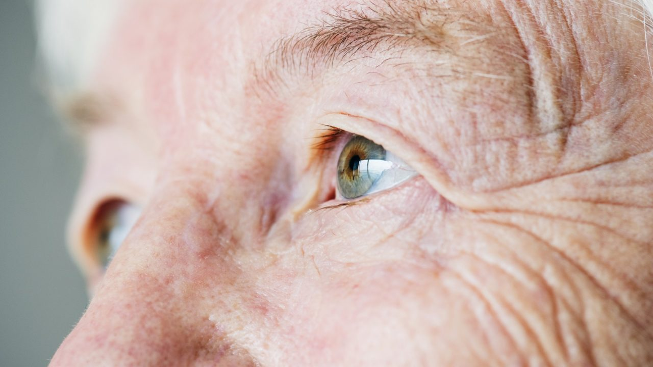 older person eyes