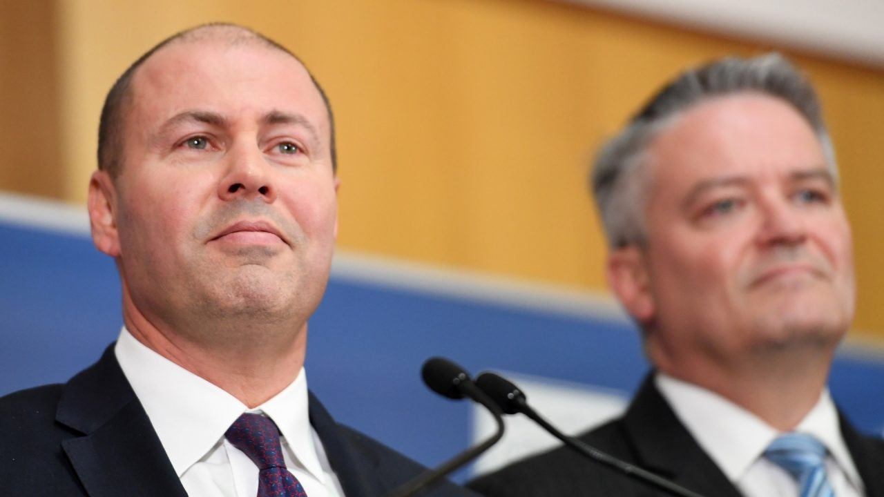 Josh Frydenberg Mathias Cormann Federal Budget