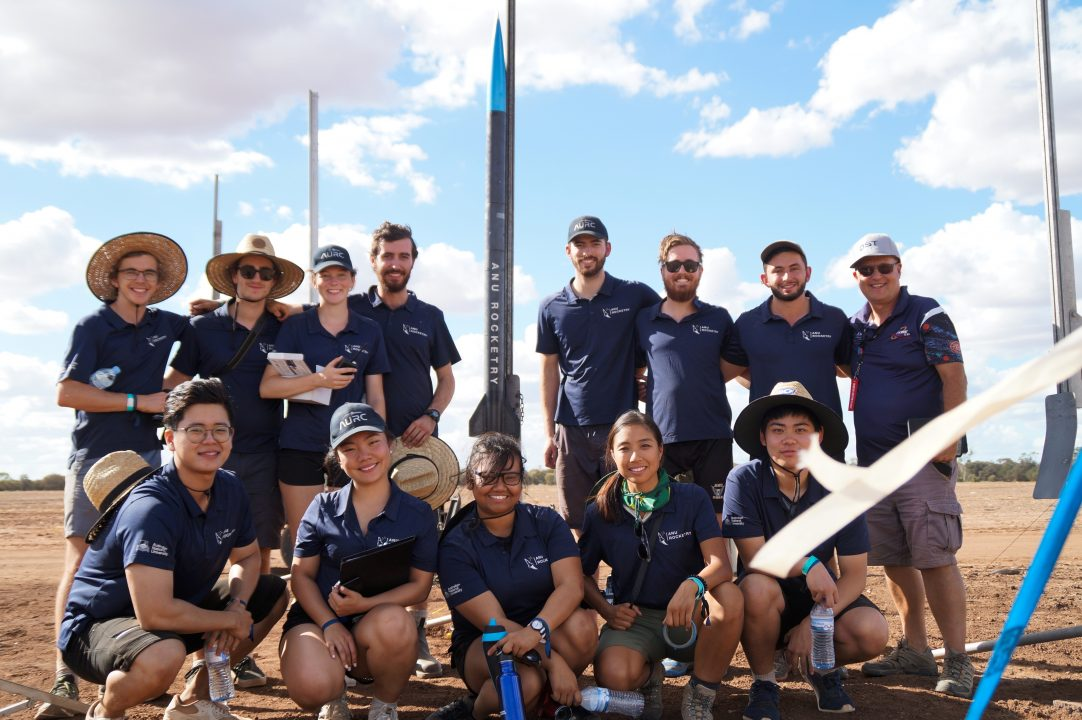 ANU rocketry team rocket competition Australia