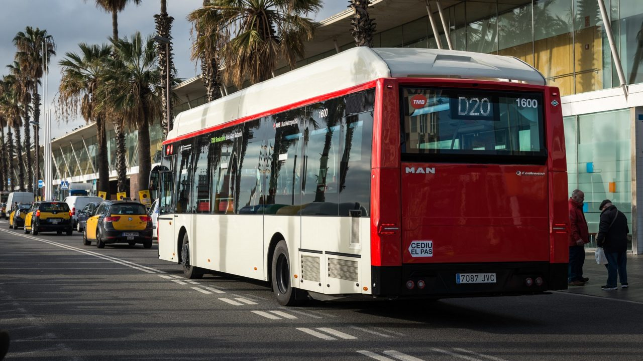 CNG bus Barcelona