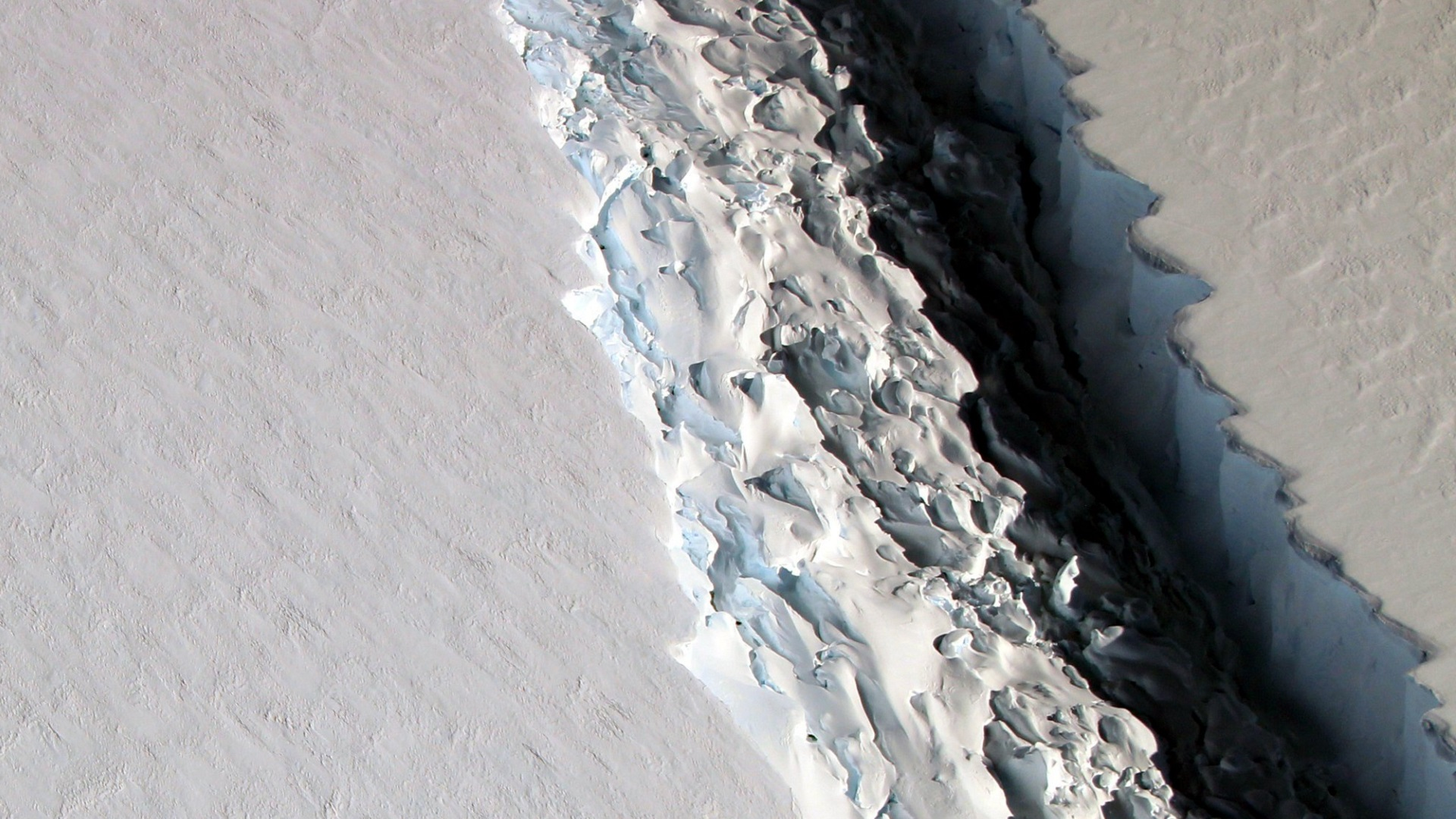 climate change global warming Larsen ice shelf crack