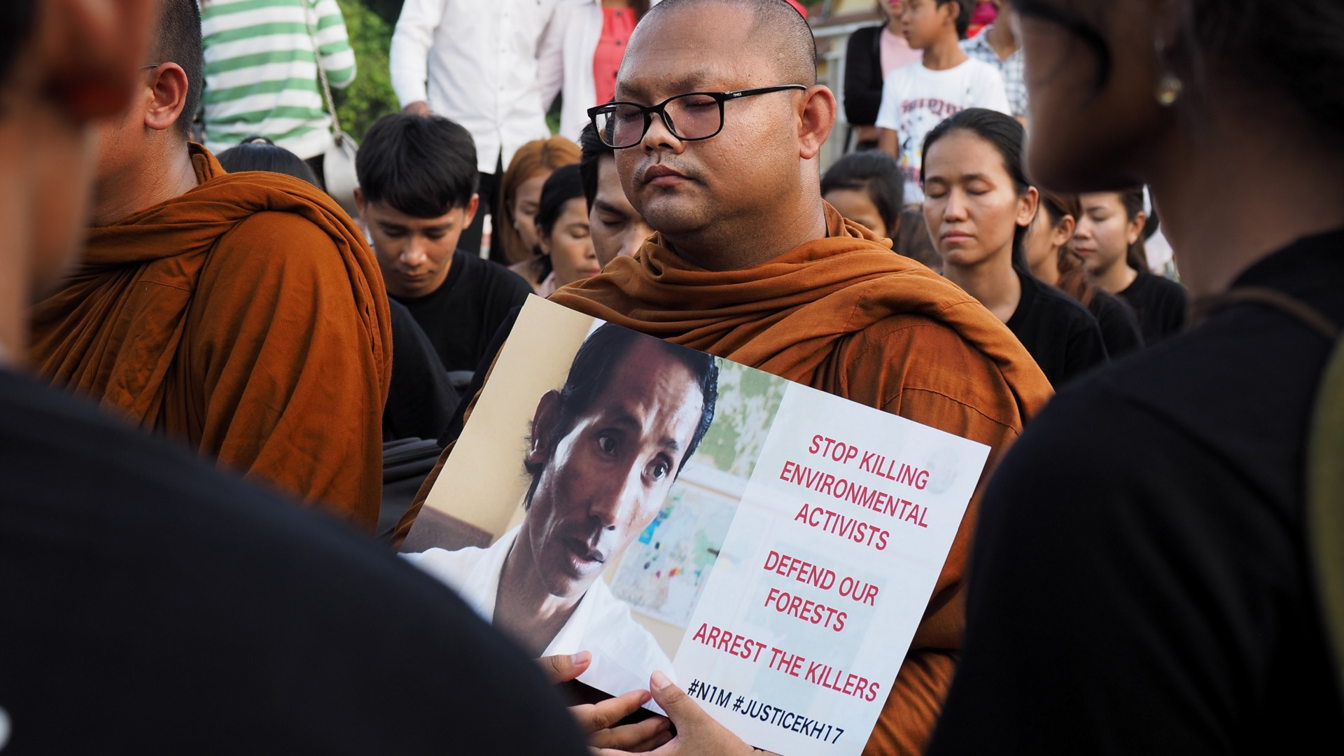 Environmental defender activist monk killing