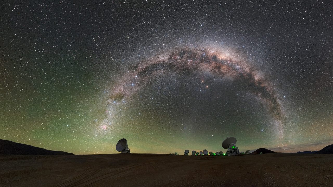 Milky Way at European Southern Observatory ESO