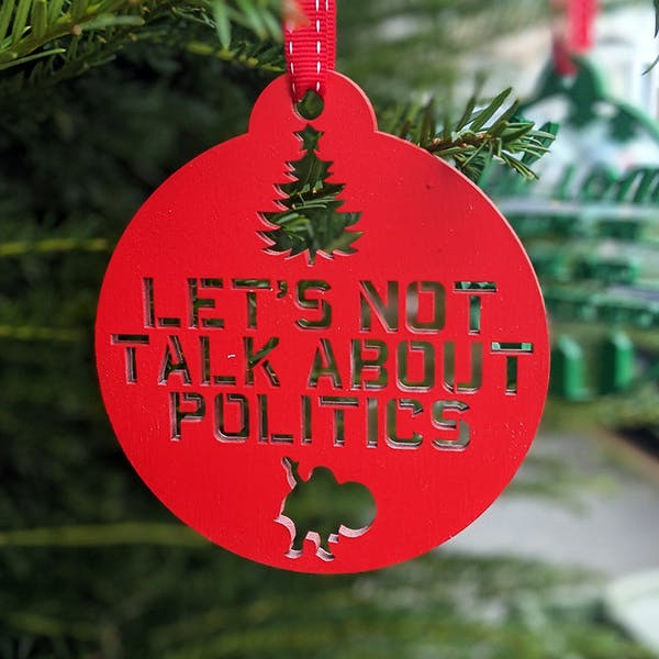 climate change_politics_christmas ornament
