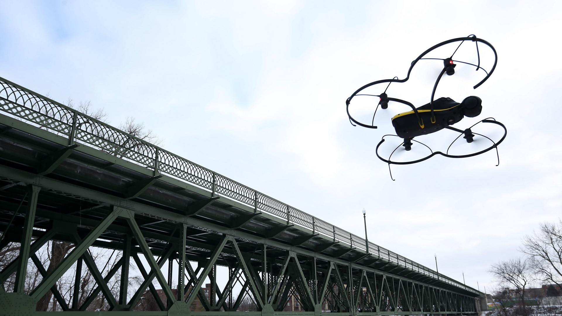 drones_bridge inspection_drone uses