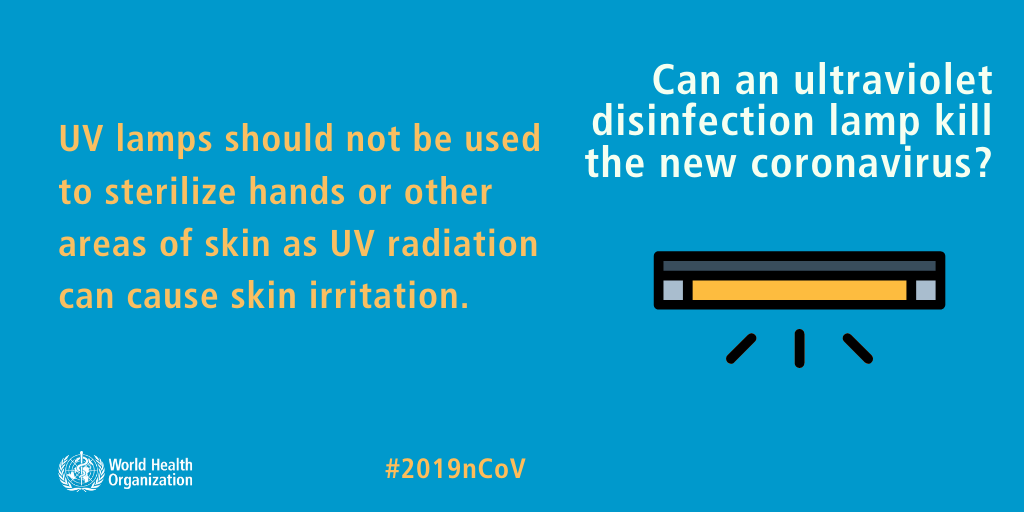 UV light can kill coronavirus but you dont want to