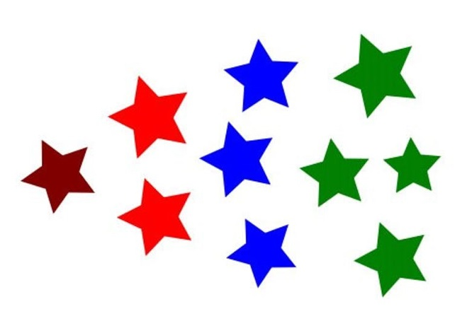 bee maths coloured stars counting test