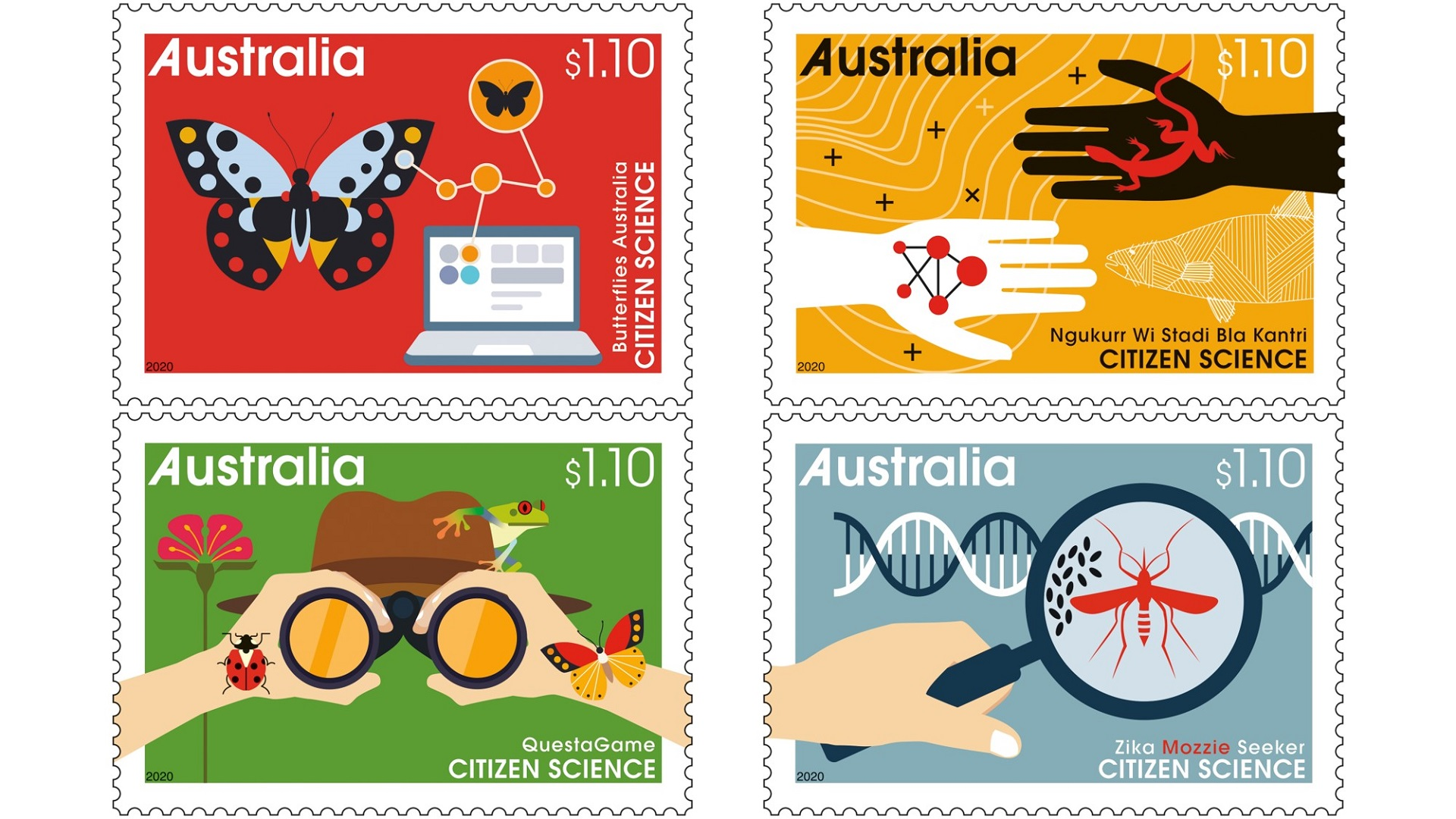 Australia Post Citizen science stamps