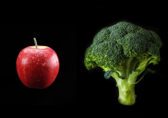 suppressed thoughts_thought control_broccoli_apple